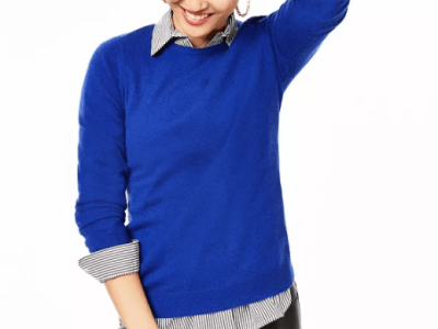 Macy's: Crew-Neck Cashmere Sweater, Regular & Petite Sizes $39.99 ($139.00)