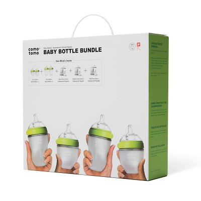Amazon: Comotomo Baby Bottle Bundle, Green for $47.99 (Reg. $59.99)