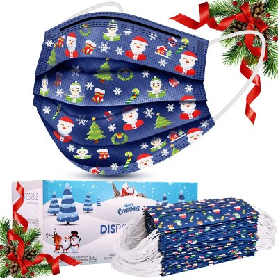 Amazon: Disposable Face Masks, 50 Pcs Christmas Face Masks for $8.47 W/Code (Reg. $15.99)
