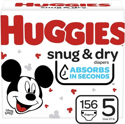 Amazon: Huggies Snug & Dry Baby Diapers, Size 5, 156 Ct for $23.98 (Reg. $44.99)