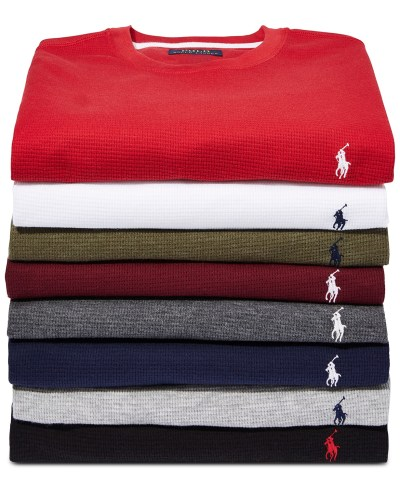 Macy's: Polo Ralph Lauren Men's Waffle-Knit Thermal Pajama Shirt for $21.99 Free Store Pickup! (Reg. $45.00)