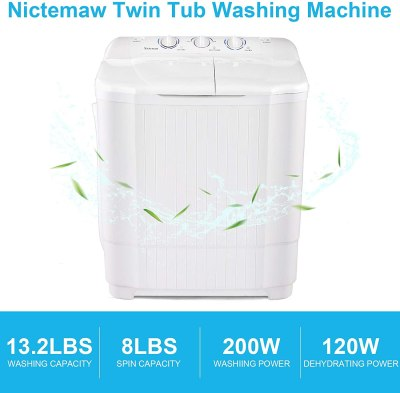 Amazon: Portable Washing Machine 21.2Lbs Compact Twin Tub Mini Only $149.99 W/Code (Reg. $749.99)