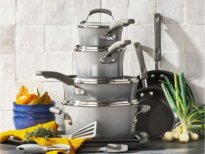 Macy's: Rachael Ray 14-Pc. Nonstick Cookware Set for $79.99 Free Shipping! (Reg. $299.99)
