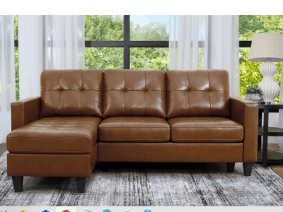 Sam's Club: Ashbury Tufted Reversible Sectional, Assorted Colors For $449.00