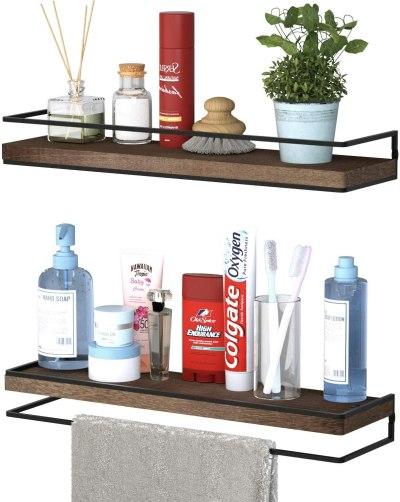 Amazon: Set 2 of Minggoo Floating Shelves Wall Mounted Only $22.99 (Reg. $29.99)