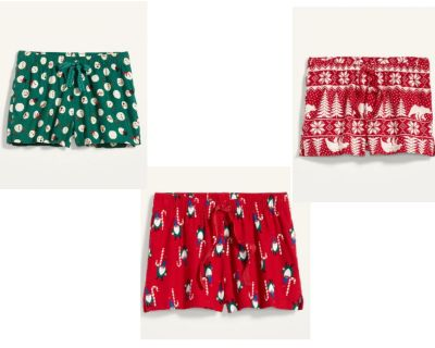 Old Navy: Women's Christmas Boxer Pajama Shorts Only $4.00 (Reg. $15.00)