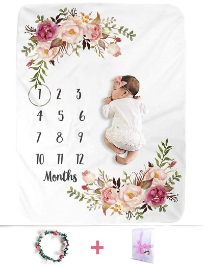 Amazon: XMWEALTHY Baby Monthly Milestone Blankets for $11.39 W/Code (Reg. $18.99)