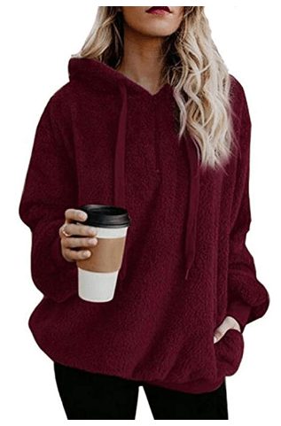 Amazon: Fuzzy Sherpa Hoodies Pullover Zip Fleece Sweatshirt Outwear Only $8.09 W/Code (Reg. $26.98)