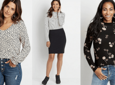 Maurices: Women's Long Sleeve Tees only $5!