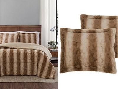 Faux Fur 3-Piece Comforter Set $20 (Reg $50)