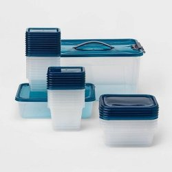 Target: 50pc Food Storage Container Set Blue for only $5 (reg. $10)