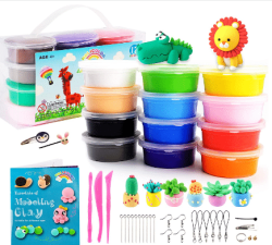 Amazon: Air Dry Clay Kit 12 Colors Non-Toxic for only $4.99 W/Code (Reg. $9.99)