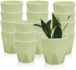 Amazon: 16 Pcs Plastic Plant Pots 3.7? for $8.54 (Reg.Price $14.99)
