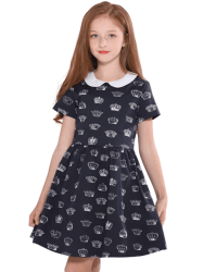 Amazon: maoo garden Girls Black Stripe Dress JUST $5.00