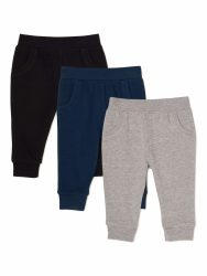 Walmart: Baby Boy French Terry Joggers, 3-Pack $6.00 Reg.$11.94