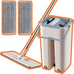 Amazon: 80% OFF on Cleaner Mop with 2 Squeegee Mop Pads
