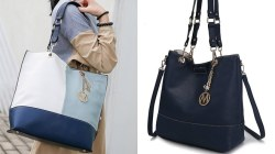 Zulily: Light Blue & Black Malaya Reversible Tote & Wallet ONLY $29.99 (Reg $279)