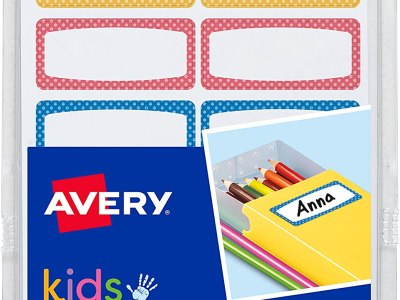 Amazon: 60 Count Avery Durable Labels for Kids' Gear, Assorted Border Colors for $1.88 (Reg. $4.19)