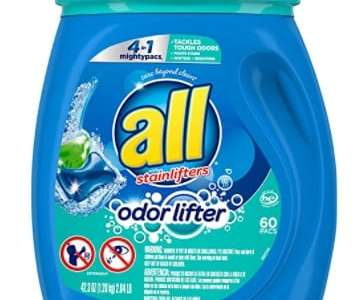 Amazon: 60 Count all Mighty Pacs Laundry Detergent for $8.97