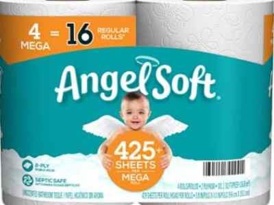 Amazon: Angel Soft Toilet Tissue, 4 Mega Rolls for $3.99 (Reg. Price $4.99)