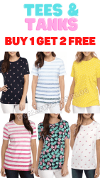Belk: Tees & Tanks Buy 1 Get 2 FREE (Tees $8 Each!)