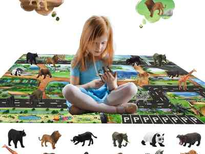 Amazon: Animals Figurines Toys with Activity Play Mat, Just $5.80 (Reg $28.99) after code!