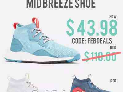 Columbia: Women's SH/FT™ Mid Breeze Shoe for $43.98 (Reg. Price $110.00) after code!
