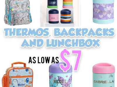 Pottery Barn Kids: Thermos, Lunchbox, Backpack on Sale, for as low as $7!