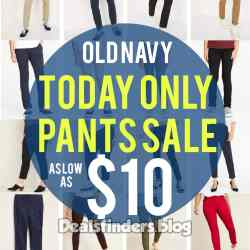 Old Navy: Today Only Pants Sale, as low as $10!