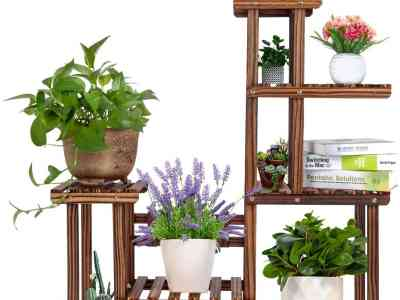 Amazon: Wooden Plant Rack,5 Tiers Plant Shelf, Just $38.99 (Reg $59.99) after code!