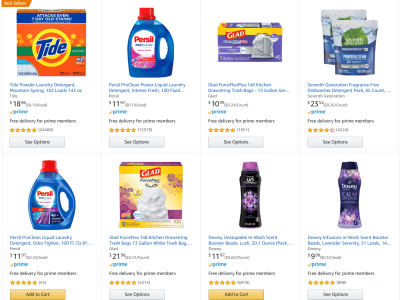 Amazon: Trash Bags, Laundry Pods, & Dishwasher Detergent together for only $31 Shipped with $10 discount