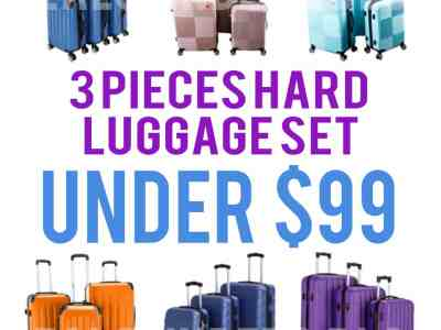 Walmart: 3 Hard Luggage Set, Under $99!