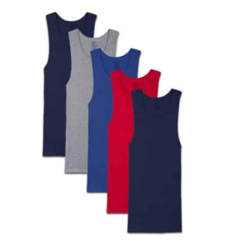 Amazon: 5 Pack Fruit of the Loom Men's Tag-Free Tank A-Shirt for $9.39 (Reg. Price $15.99)
