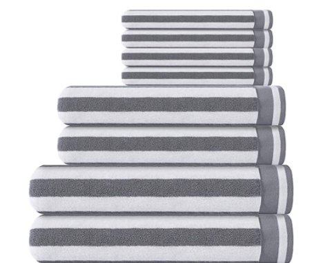 Amazon: 8 Pack Quick Dry and Absorbent Cotton Towel Set for $17.99-$18.49 (Reg. Price $35.99-$36.99) after code!