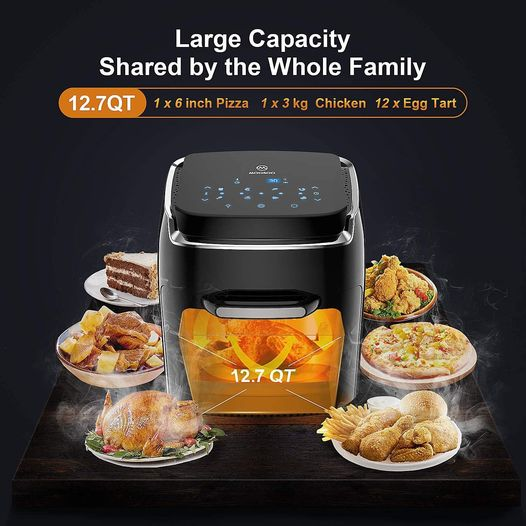 Amazon: 8-in-1 Air Fryer Oven, Oil-Less Air Frying Cooking, Just $89.99 (Reg $149.99) after code!