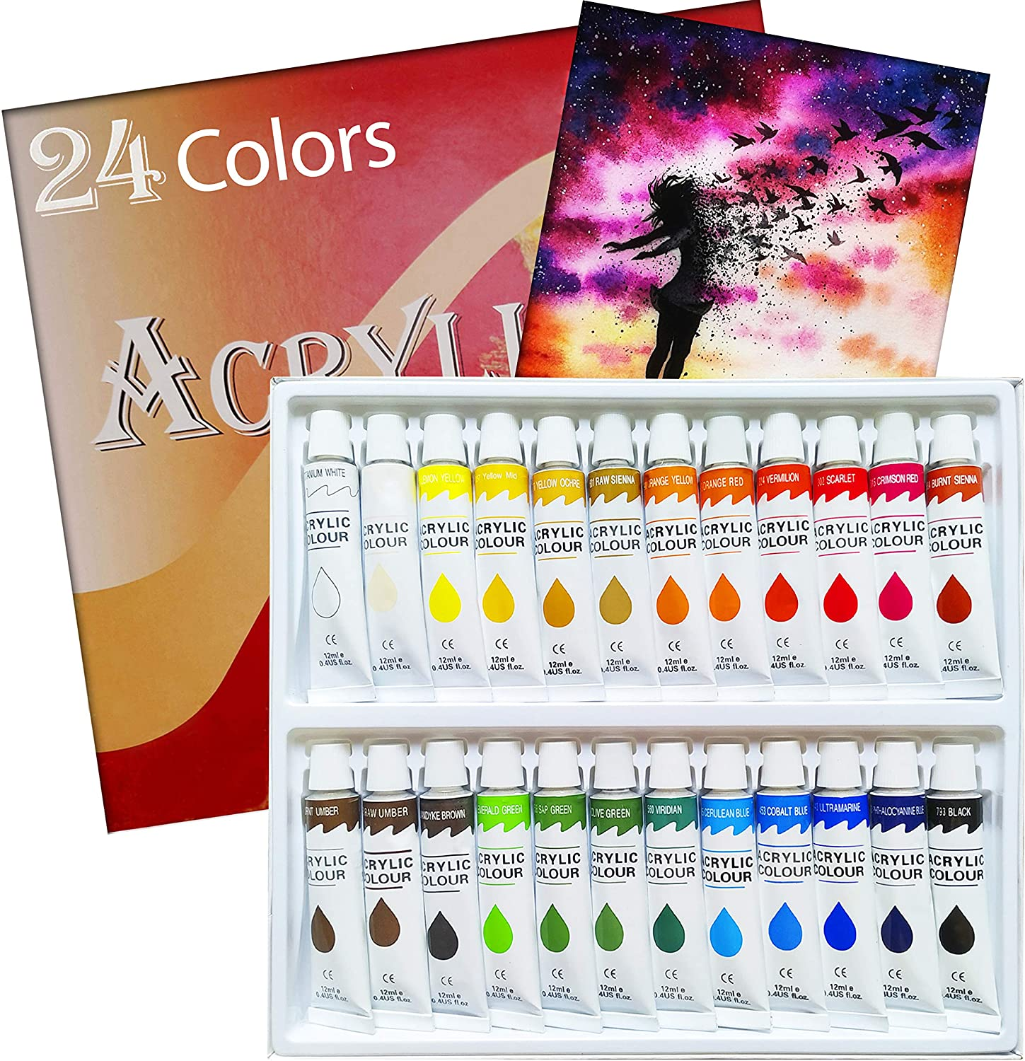 Amazon: Acrylic Paint Set 24 Colors Tubes Acrylic Paints, Just $8.02 (Reg $22.92) after code!