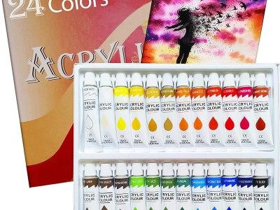 Amazon: Acrylic Paint Set 24 Colors Tubes Acrylic Paints, Just $8.02 (Reg $22.92) after code!