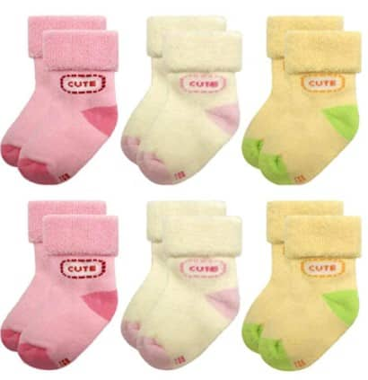 Amazon: Baby Socks Terry for Infant Toddler Girls Winter 0-12 Months 6 Pairs, Just $9.15 (Reg $18.30) after code!
