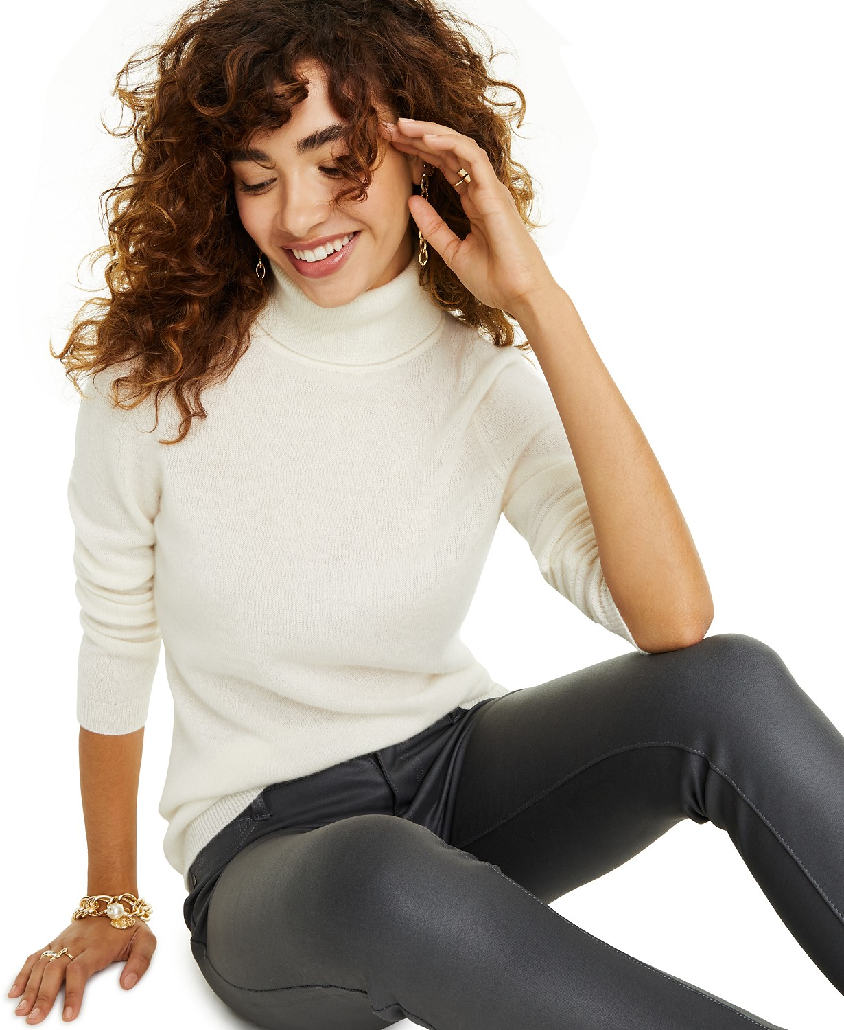 Macy's: Charter Club Petite Cashmere Turtleneck Sweater for $55.60 (Reg. Price $139.00)