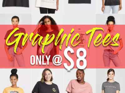 Target: Graphic Tees Sale, Only $8.00!