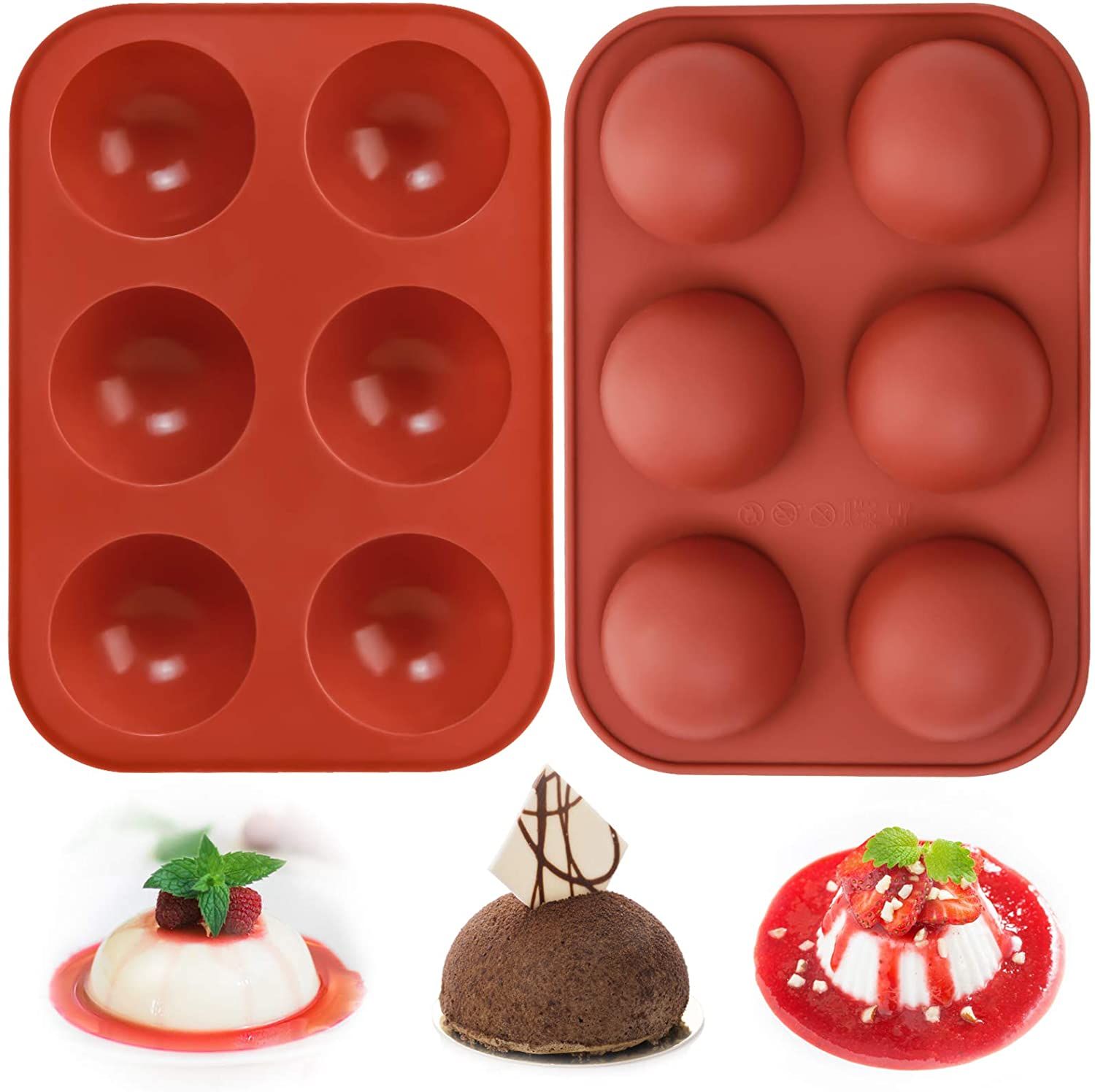 Amazon: Hot Chocolate Bomb Mold, Valentine's Day Chocolate Mold Candy Mold, 2 Pack, Just $5.49 (Reg $10.99 ) after code!