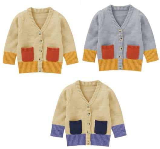 Amazon: Kids Baby Cardigan Sweater for $7.49 (Reg. Price $24.98) after code!