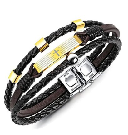 Amazon: Mens Double-Row Black Braided Leather Bracelet for $6.90 (Reg. Price $22.99) at checkout!