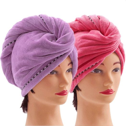 Amazon: Microfiber Hair Towel Wraps for Women (2 pack), Just $5.38 (Reg $6.99)