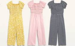 Old Navy: Girls Short-Sleeved Jumpsuits $12 (Reg. $25)