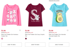 The Children's Place: Baby & Toddler Tees, Just From $0.99 Shipped!