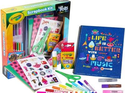 Amazon: Crayola Trolls 2 World Tour Scrapbook Kit w/ Over 60 Art Supplies Only $7.78 on (Reg: $14)