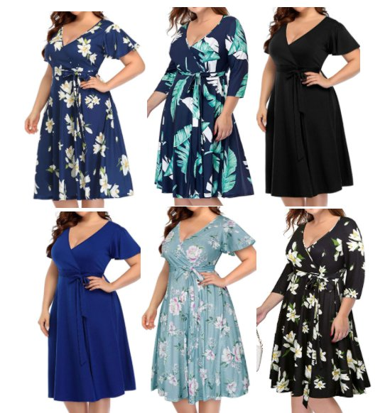 Amazon: Women's Plus Size V-Neckline Faux Wrap Midi Dress for $16.99 (Reg. Price $33.99) at checkout!