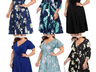 Amazon: Women's Plus Size V-Neckline Faux Wrap Midi Dress for $16.99 (Reg. Price $33.99) at checkout!
