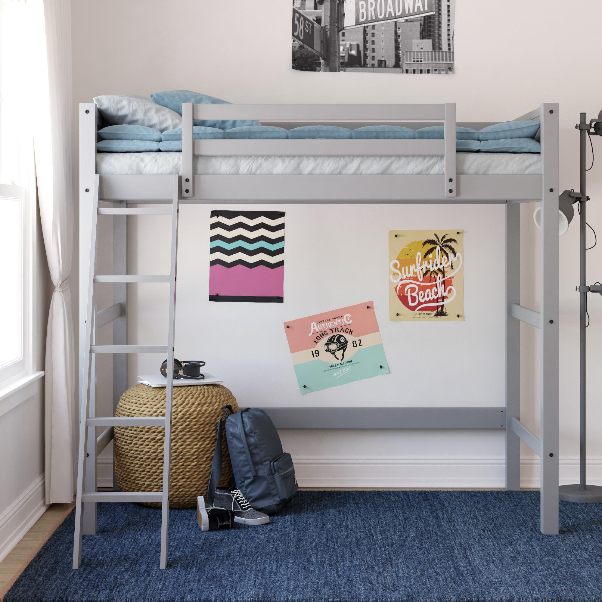 Walmart: Your Zone Kids Wooden Loft Bed with Ladder Twin Size for $99.97 (Reg. Price $299.99)